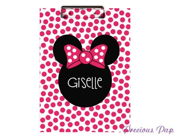 Personalized Minnie mouse clipboard, minnie mouse gift,  minnie classroom, teacher gift, teacher clipbaord, classroom gift