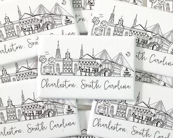 Charleston, South Carolina Skyline Magnet