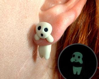 Kodama earring, inspired in Mononoke hime. Select 1 earring or a pair (2 in ''quantity)