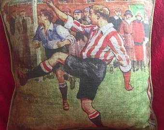 Vintage style Football cushion Christmas Present