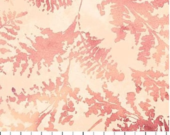 Northcott - Ambrosia - Persimmon -  Fern Fronds - Rose Fabric by yard or select cut  21255-21