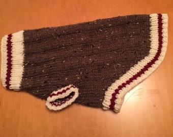 Sock Monkey Dog Sweater (L-XL)