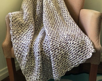 Neutral Earthy Granny Throw