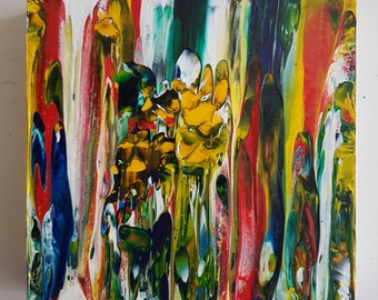 Melting Line Gallery Canvas Acrylic Abstract Painting
