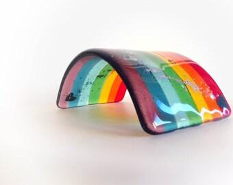 Fused Glass Rainbow Bridge