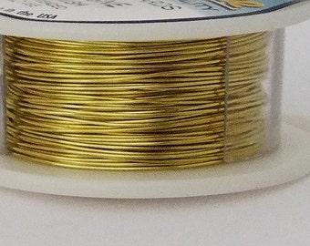 24GA Beadsmith Champagne Gold Color Non-Tarnish  Wire 10 Yards