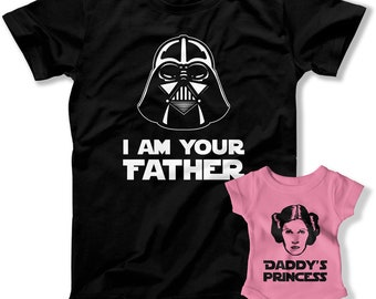 First Fathers Day Gift, Daddy and Me Shirts, Matching TShirts, Dad and Baby Matching Shirts, I Am Your Father Shirt, Dad Daughter Shirts