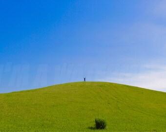 Perfect Grassy Hill Digital File