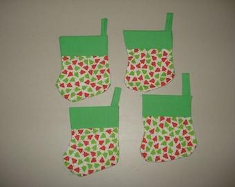 Green Tiny Trees Mini-Stockings