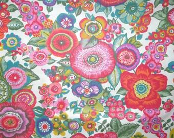 Fabric - Rico - bright floral - woven cotton