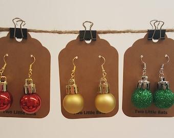 Christmas & Holiday Bauble Earrings