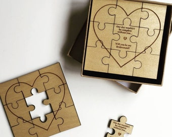 Will You Be My.. Jigsaw Gift