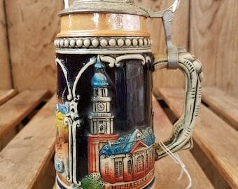 Vintage German Beer Stein, German Beer Stein, Zoller & Born Stein, Western Germany Beer Stein