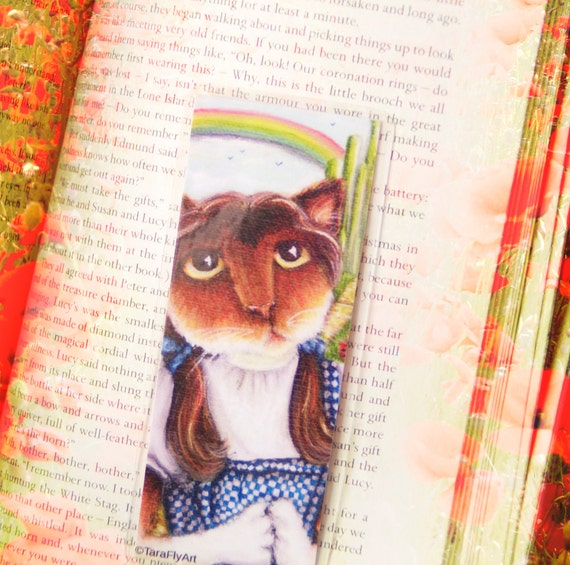 Dorothy Wizard of Oz Calico Cat Bookmark