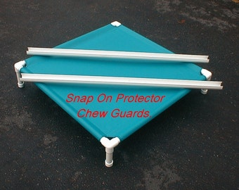 Dog Bed Cot Chew Proof Guards For 1 1/4 Inch PVC Pipe 5 Sizes For Large Dog Cots. Protects The Edge Of The Dog Cot, PVC Dog Cot Not Included