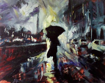 Through the Storm - oil painting on canvas