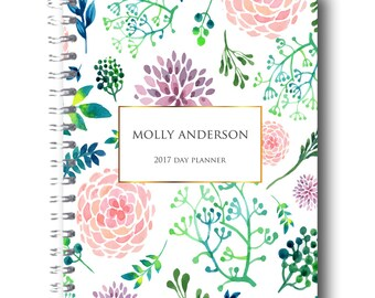 Undated Printable Planner - Editable Perpetual Calendar - INSTANT DOWNLOAD - 55 Pages.  UP4