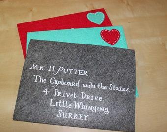Harry Potter Felt Envelope