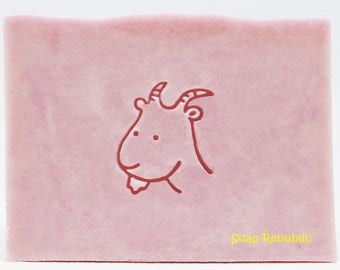 SoapRepublic 'Goat' Acrylic Soap Stamp / Cookie Stamp / Clay Stamp