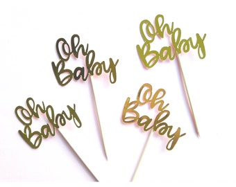 Oh Baby. Oh Baby Theme. Oh Baby Cupcake Toppers. Oh Baby Party. Oh Baby Party Decorations. Baby Shower. Baby Shower Decorations