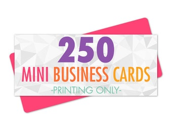 250 Mini Business Cards, Card Printing, Business Cards Printed, Hang Tag Printing, Printed Business Cards, Eco Friendly Printing