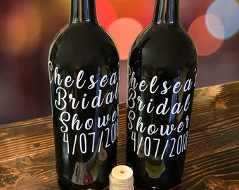 Wedding Guest Book - Wine Bottle Decoration for Weddings - Wine Bottle Guest Book Sign In - Bridal Shower Gift.
