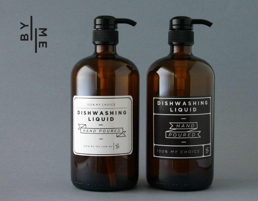 2 x 1 litre ambre verre bouteille de savon distributeur de. Black Bedroom Furniture Sets. Home Design Ideas