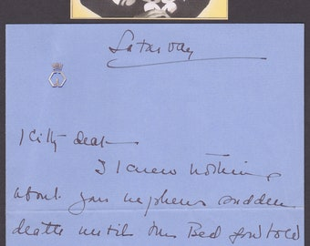 Wallis, Duchess of Windsor Autograph letter written to Kitty, wife of Baron Eugene de Rothschild, who had made their Austrian home