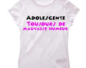 Humor always girl bad girl t-shirt.