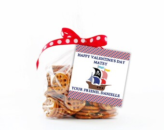 Kids Valentines Tags,  Valentines Treat Tags,  Valentine Tag,  Printable Gift Tag,  Kids Valentine Tags for school,  Pirate Valentine