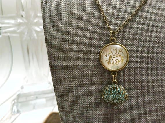 Catholic Jewelry * *Christian Jewelry * Catholic Pendant Necklace * Mini Pendant Necklace * Handlettered Pendant Necklace * Gifts for Her