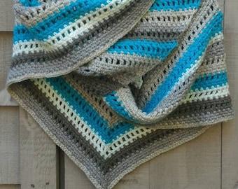 Crochet Triangle Shawl/Scarf/Wrap READY TO SHIP