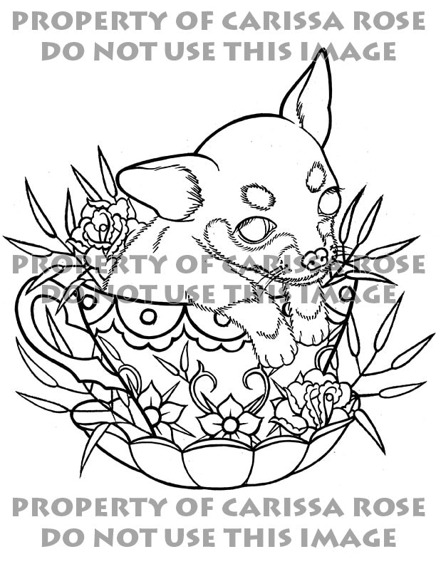 Digital Download Print Your Own Coloring Book Outline Page