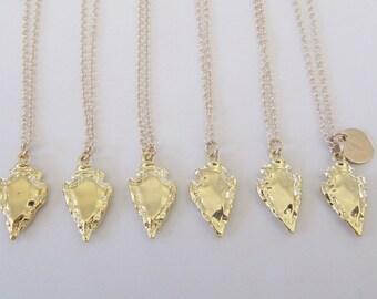 Arrowhead Necklace, Gold Arrowhead Necklace, Boho Necklace, Tribal Necklace, Bridesmaid Necklace, Spear Necklace, Arrowhead Pendant Gift