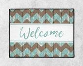 Custom Welcome Mat - Farmhouse Door Mat - Custom Doormat - Rustic Doormat - Indoor Outdoor Mat - Housewarming - New Home Gift - Wedding Gift