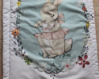 Blanket soft rabbit pattern