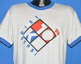 80s Seafair Diet Pepsi 10K Run 1986 t-shirt Large