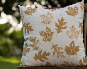 "Fall Leaves - pillow cover (18""x18"")"