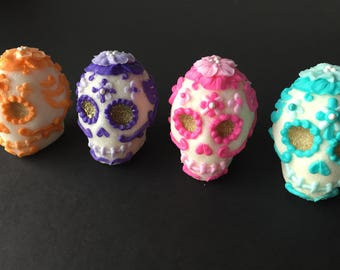Sugar skull, day of the dead, edible decorations, 1 pieces
