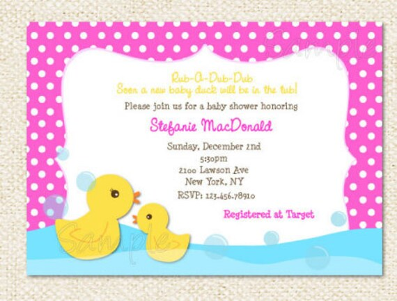 Duck Baby Shower invitations