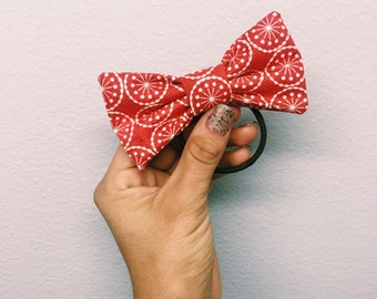 Red Snowflake Bow