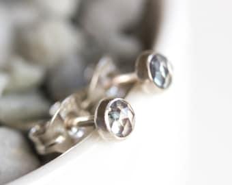 Alexandrite stud earrings, tiny stud earrings, sterling silver or 14k gold filled, June birthstone