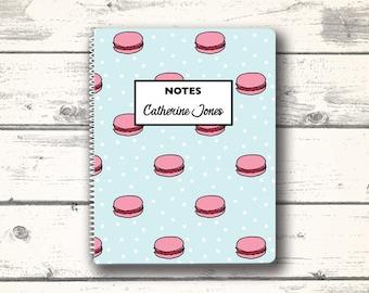 Macaron, Notebook, School Supplies, Personalized Stationery, Personalized Notebook,  Custom Stationery, Custom Stationary
