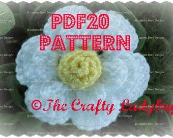 Super Easy Flower II crochet pattern - 2 designs included - PDF20 instant download