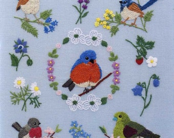 Bird Embroidery Designs 350 - Japanese Craft Book