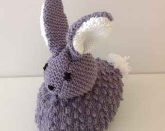Peter Rabbit Doorstop Knitting Pattern, Easter Knitting Pattern, Handmade Bunny Pattern, Knitted Gift, Download pdf