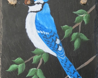 Painted BLUEJAY Slate