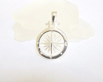 Sailor Compass Necklace Sterling Silver - Compass jewelry - Nautical Jewelry*