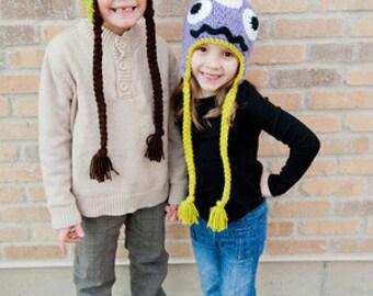 Crochet Pattern - Monster Hat Crochet Pattern