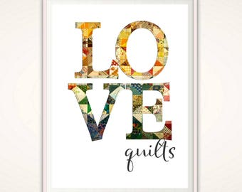 Quilt Wall Art - Gifts for Quilters, Craft Room Decor, Craft Room Wall Art, Sewing Room Print, Sewing DIGITAL Gift, Quilting Sign, Sewers